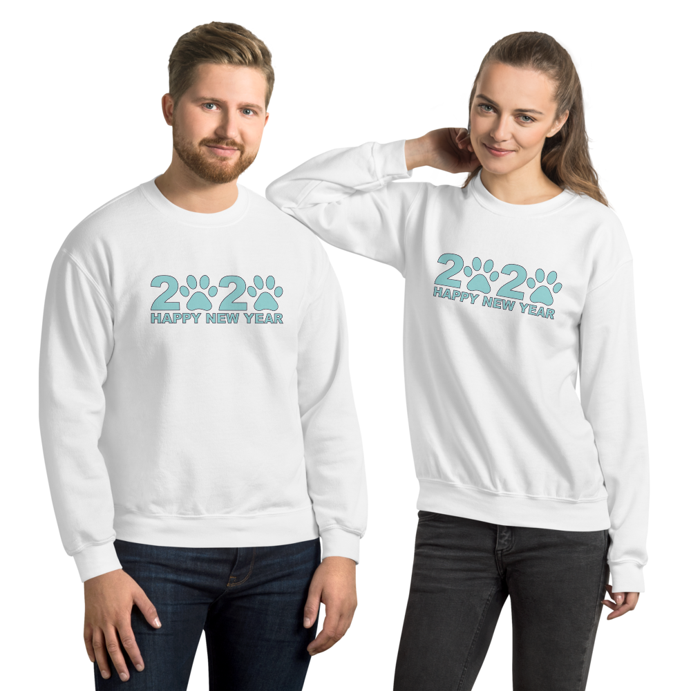Blue Happy New Year 2020 Unisex Sweatshirt