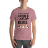 The More I Like My Beagle Men's T-Shirt Heather Orchid S