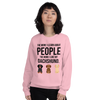 The More I Like My Dachshund Women's Sweatshirt Light Pink S