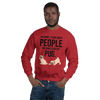 The More I Like My Pug Men's Sweatshirt Red S