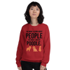 The More I Like My Poodle Women's Sweatshirt Red S