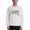 All Men Created Equal Husky Sweatshirt White S