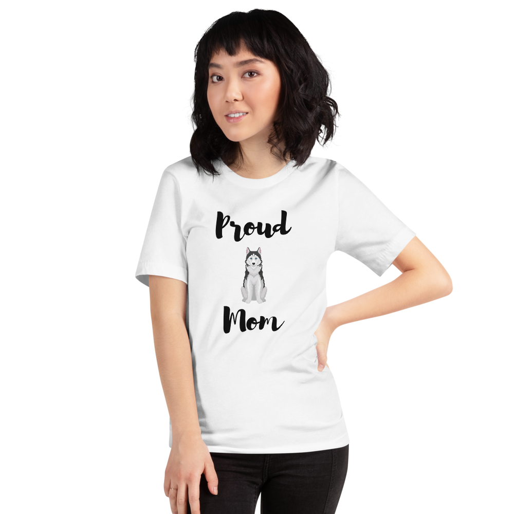 Proud Husky Mom T-Shirt White XS