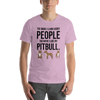 The More I Like My Pitbull Men's T-Shirt Heather Prism Lilac XS