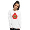 Red Paw Print Unisex Long Sleeve Shirt