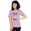 Proud Pug Mom T-Shirt Heather Prism Lilac XS