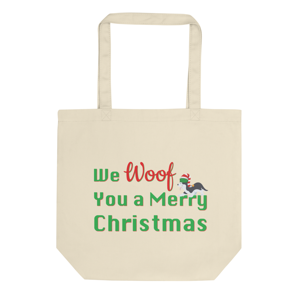 We Woof You A Merry Christmas Husky Tote Bag