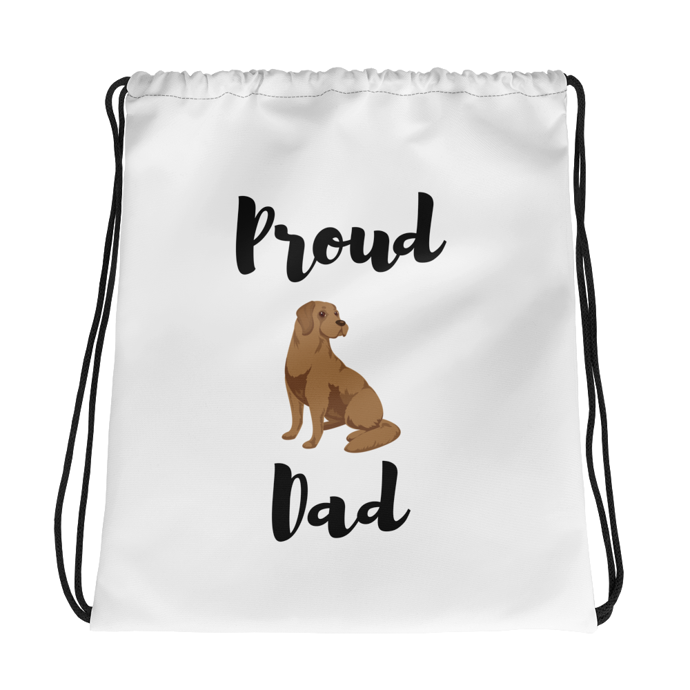 Proud Lab Dad Drawstring Bag