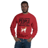 The More I Like My Jack Russel Terrier Men's Sweatshirt Red S