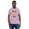 Proud Retriever Dad T-Shirt Heather Prism Lilac XS