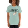 All Women Created Equal Jack Russel Terrier T-Shirt Heather Prism Dusty Blue XS