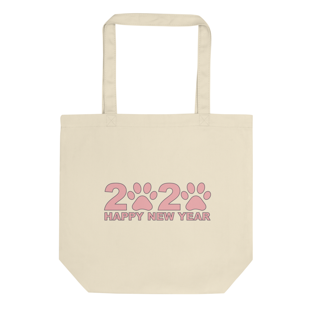 Pink Happy New Year 2020 Tote Bag