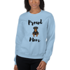 Proud Rottweiler Mom Sweatshirt Light Blue S