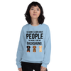 The More I Like My Dachshund Women's Sweatshirt Light Blue S