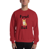 Proud Corgi Dad Sweatshirt Red S