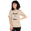 Proud Husky Mom T-Shirt Heather Dust S