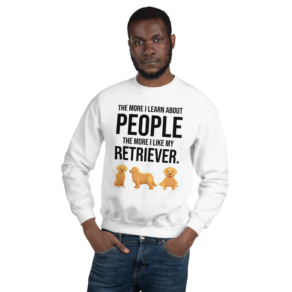 The More I Like My Retriever Men's Sweatshirt White S