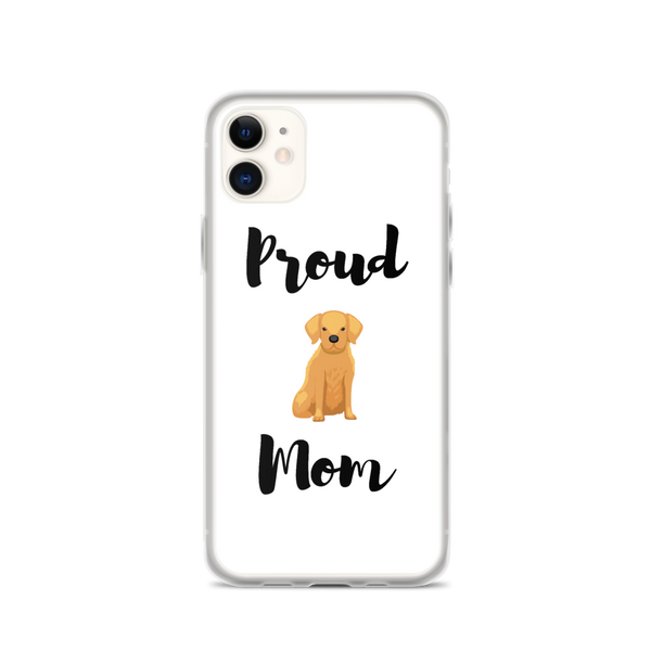 Proud Golden Retriever Mom iPhone Case
