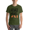 The More I Like My Poodle Men's T-Shirt Olive S