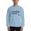 All Men Created Equal Husky Sweatshirt Light Blue S