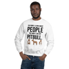 The More I Like My Pitbull Men's Sweatshirt White S