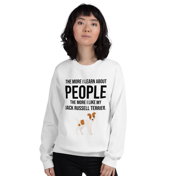The More I Like My Jack Russel Terrier Women's Sweatshirt White S