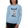 Proud Pitbull Mom Sweatshirt Light Blue S