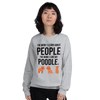 The More I Like My Poodle Women's Sweatshirt Sport Grey S