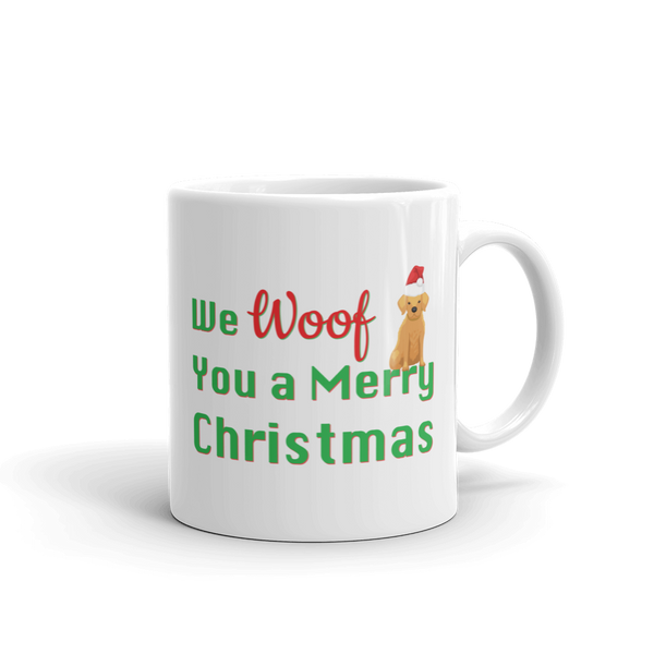 We Woof You A Merry Christmas Golden Retriever Mug