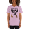 The More I Like My Lab Women's T-Shirt Heather Prism Lilac XS