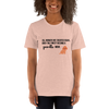All Women Created Equal Poodle T-Shirt Heather Prism Peach XS