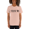 All Women Created Equal Dachshund T-Shirt Heather Prism Peach XS