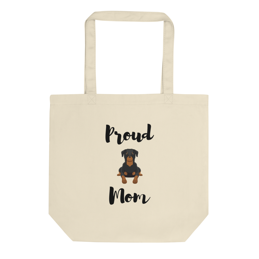 Proud Rottweiler Mom Tote Bag