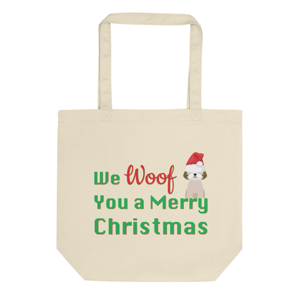 We Woof You A Merry Christmas Shih Tzu Tote Bag