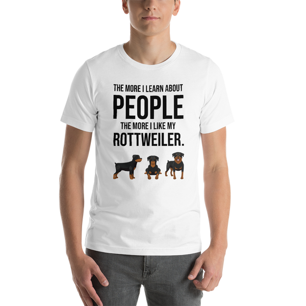 The More I Like My Rottweiler Men's T-Shirt White XS