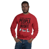 The More I Like My Husky Men's Sweatshirt Red S