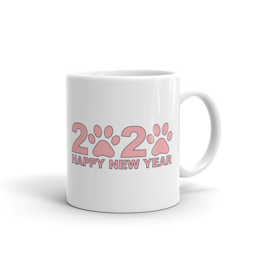 Pink Happy New Year 2020 Mug