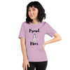 Proud Husky Mom T-Shirt Heather Prism Lilac XS