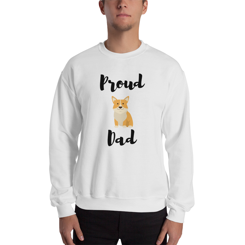 Proud Corgi Dad Sweatshirt White S
