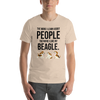The More I Like My Beagle Men's T-Shirt Heather Dust S
