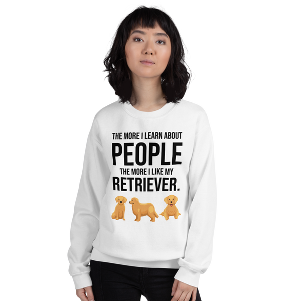 The More I Like My Retriever Women's Sweatshirt White S