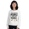 The More I Like My Beagle Women's Sweatshirt White S