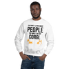 The More I Like My Corgi Men's Sweatshirt White S