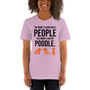 The More I Like My Poodle Women's T-Shirt Heather Prism Lilac XS