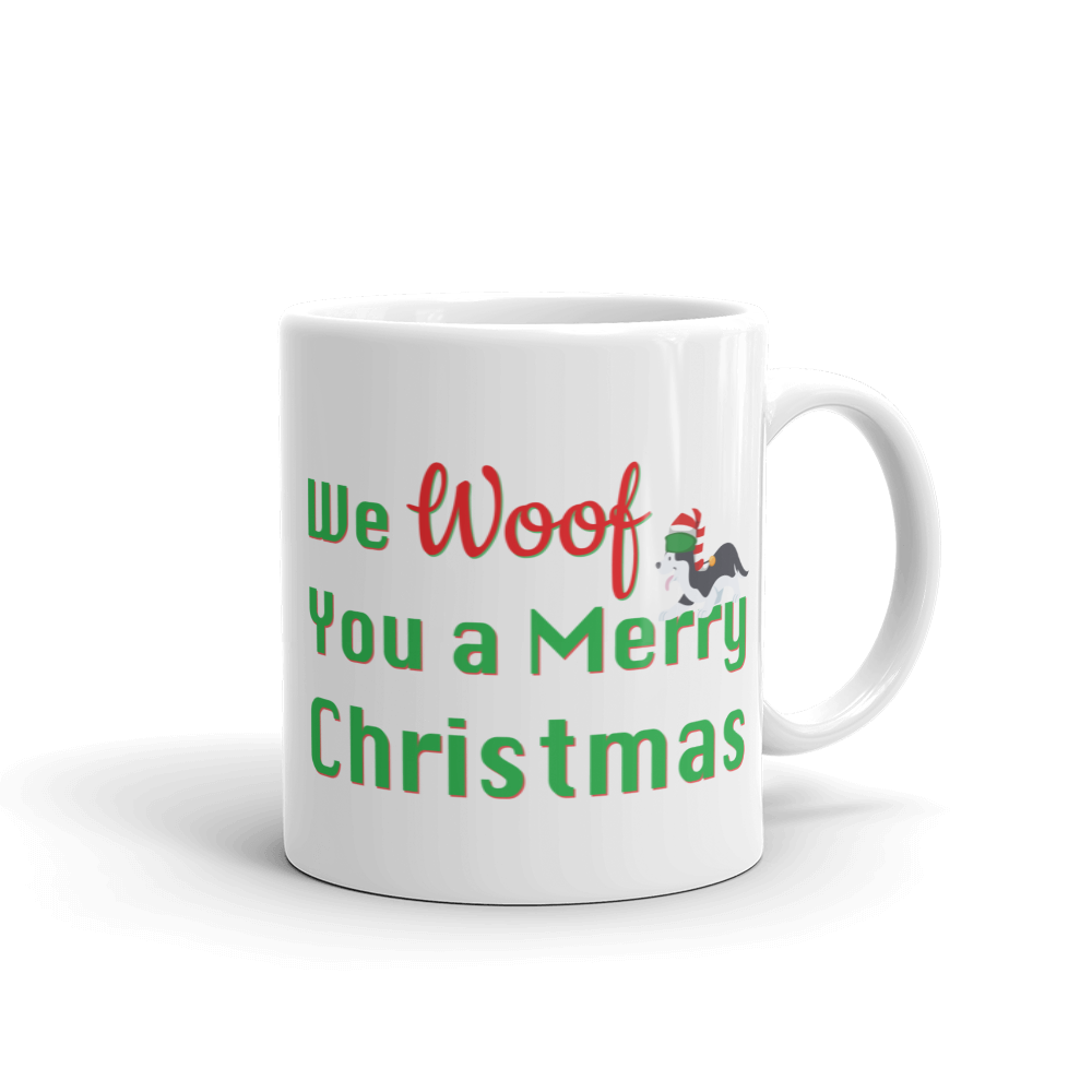 We Woof You A Merry Christmas Husky Mug