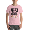 The More I Like My Beagle Men's T-Shirt Pink S