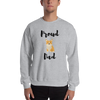 Proud Corgi Dad Sweatshirt Sport Grey S