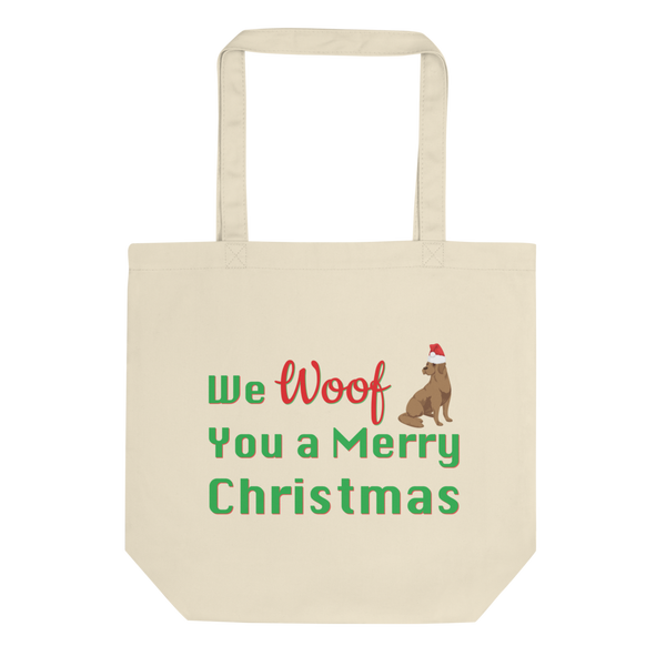 We Woof You A Merry Christmas Lab Tote Bag