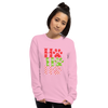 """Ho Ho Ho"" Unisex Long Sleeve Shirt Light Pink S"