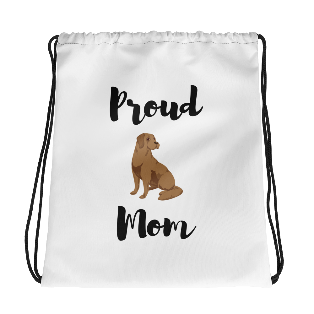 Proud Lab Mom Drawstring Bag